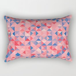 colorful Triangles 1 Rectangular Pillow