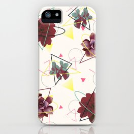 Spatial Succulents #redbubble #decor #buyart iPhone Case