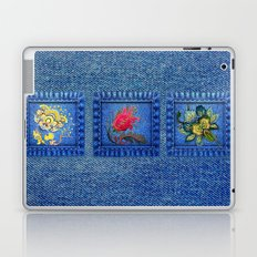 Denim Square Patches Laptop & iPad Skin