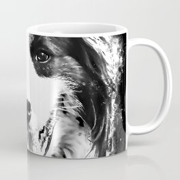 border collie shepherd dog splatter watercolor white Coffee Mug