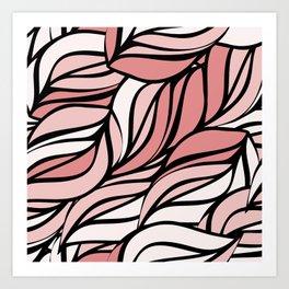 Coral seawing Art Print
