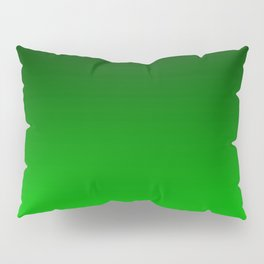 Black and Lime Gradient Pillow Sham
