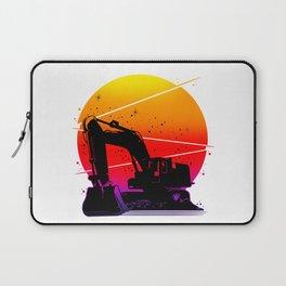 Excavator Sun Laptop Sleeve