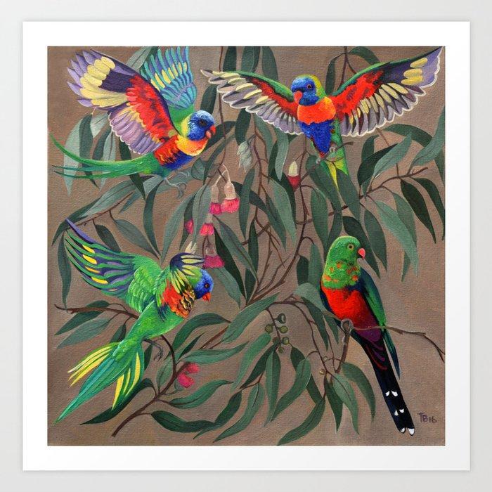 Birds of Paradise. Art Print