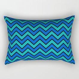 Geometric modern black blue green chevron pattern Rectangular Pillow
