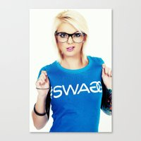swag Canvas Prints featuring Swag by Taylor Brynne-Model