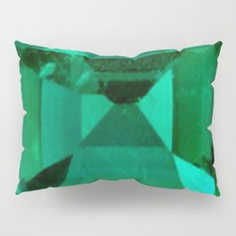 FACETED EMERALD GREEN MAY GEMSTONE Pillow Sham