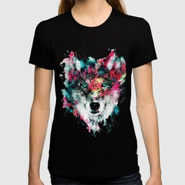 Wolf Face, Colorful Wolf T-shirt