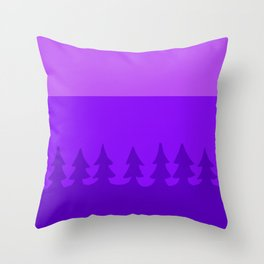 pines at twilight Throw Pillow