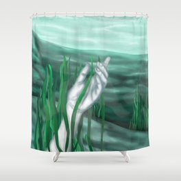 At the Bottom Shower Curtain