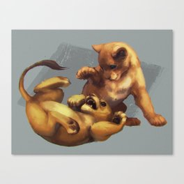 Simba and Nala Canvas Print