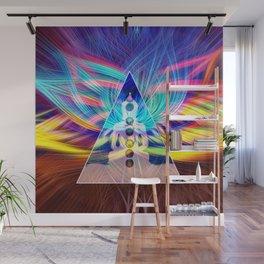 Rainbow Rays 7 Chakra Healing Meditation Wall Mural