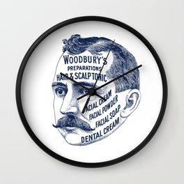 Woodbury's Facial Typography Wall Clock