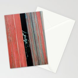 Red door, and star lights  Stationery Cards