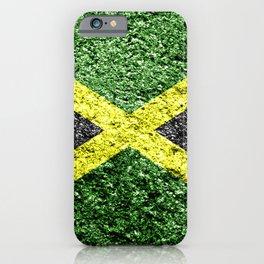 Jamaica Flag Distressed iPhone Case