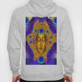 MYSTIC PEACOCK BLUE FEATHER EYES BUDDHA ART Hoody