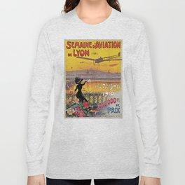 1910 Aviation week Lyon France Long Sleeve T-shirt