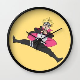 Boruto Jump Wall Clock