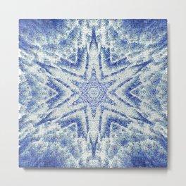 Pixelized Kaleidoscope Metal Print