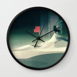 Winter in a dark world Wall Clock