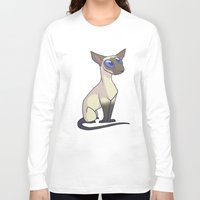 western Long Sleeve T-shirts featuring Western Siamese by Suzanne Annaars
