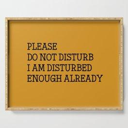 Please do not disturb enough already Serving Tray
