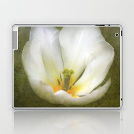 Textured White Tulip Laptop & iPad Skin