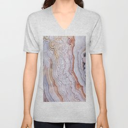 Crazy lace agate Unisex V-Neck