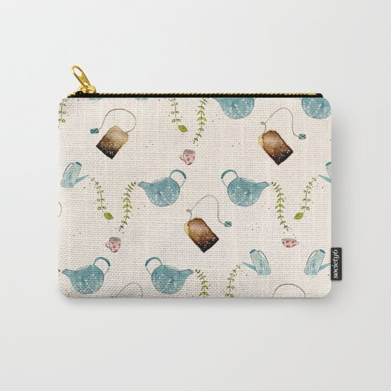 TEA PARTY PATTERN Carry-All Pouch