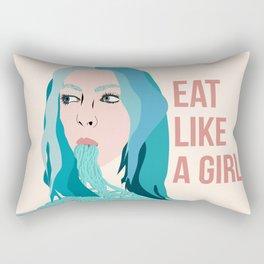 Eat Like A Girl Rectangular Pillow