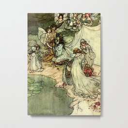 """Titania"" by Arthur Rackham From Shakespeare Metal Print"