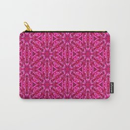 Pink Cabbage Rose Triangles 5072 Carry-All Pouch