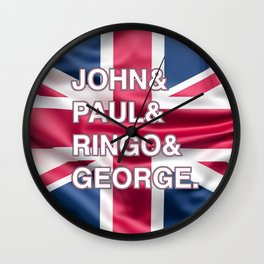 Rock and Roll legends | For Rock and Roll fans | English Rock Wall Clock