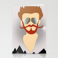 the dude Stationery Cards featuring Dude by DM Davis