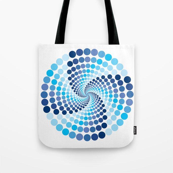Blue Circles - Optical Game 10 Tote Bag