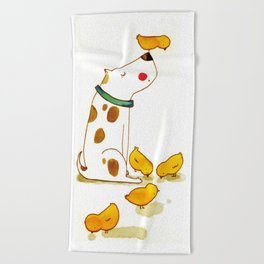 My little friends Beach Towel