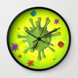 3D Virus - Multicolor Wall Clock