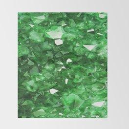 EMERALD GREEN CRYSTALS  MAY BIRTHSTONE Throw Blanket
