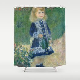 Girl with a Watering Can Shower Curtain