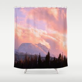 Rose Quartz Turbulence Shower Curtain