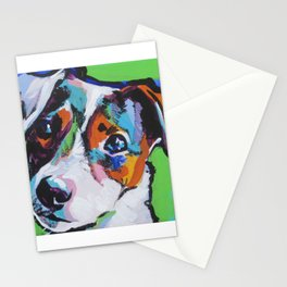 Fun JACK RUSSELL TERRIER Dog bright colorful Pop Art Stationery Cards