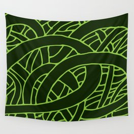 Microcosm in Green Wall Tapestry