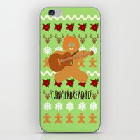 ed sheeran iPhone & iPod Skins featuring Gingerbread Ed II by Laura Maria Designs