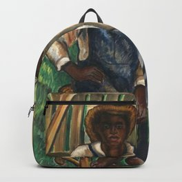 African American Masterpiece 'A Portrait of Two Brothers' by Malvin Gray Johnson Backpack