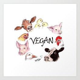 Vegan Art Print