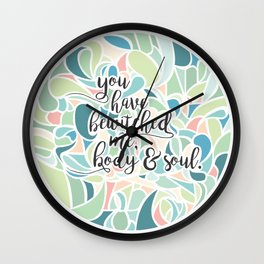 I love, I love, I love you. Wall Clock