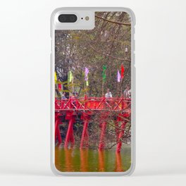 Red Bridge Hoan Kiem Lake Clear iPhone Case