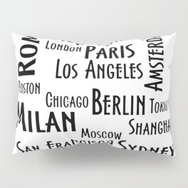 New York, Los Angeles and others city . Fashion Chic Home Decor Graphicdesign Pillow Sham