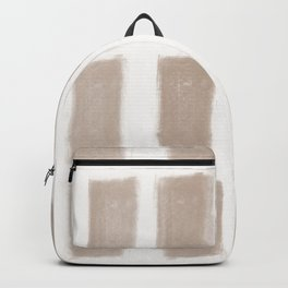 Brush Strokes Vertical Lines Nude on Off White Backpack