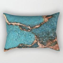 AQUA & GOLD GEMSTONE Rectangular Pillow